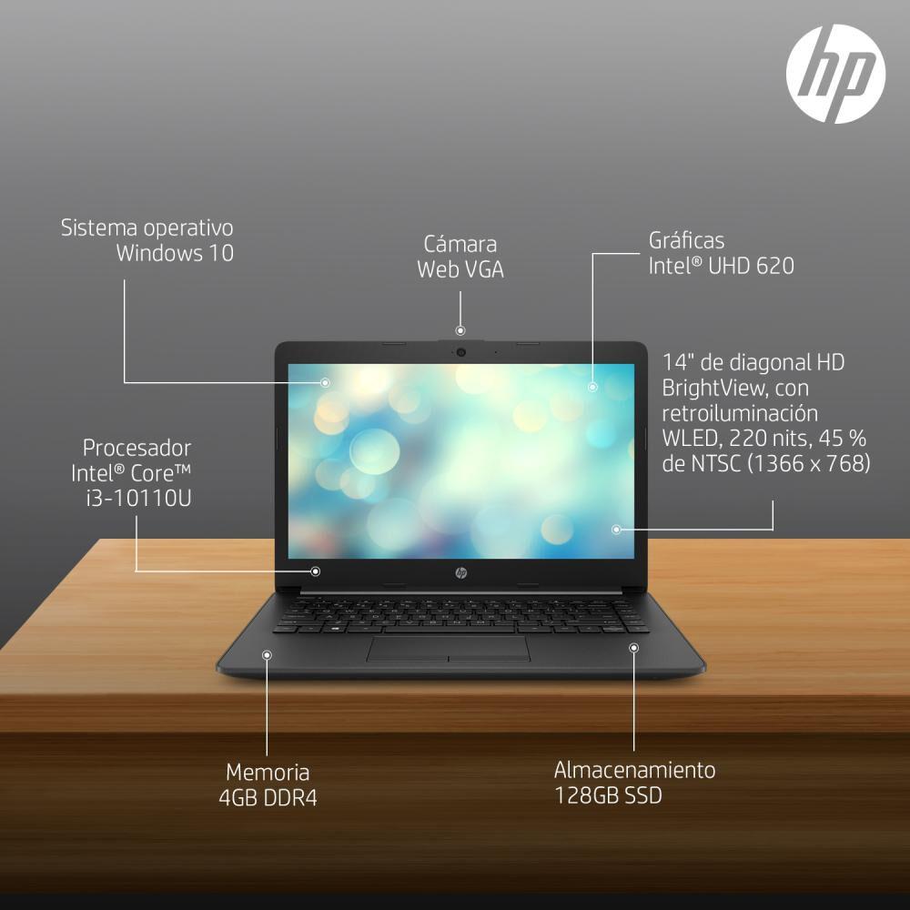 "Notebook Hp 14-ck2091la / Intel Core I3 / 4 Gb Ram / Gráficos Intel® Uhd / 128 Gb Ssd / 14 "" image number 10.0"