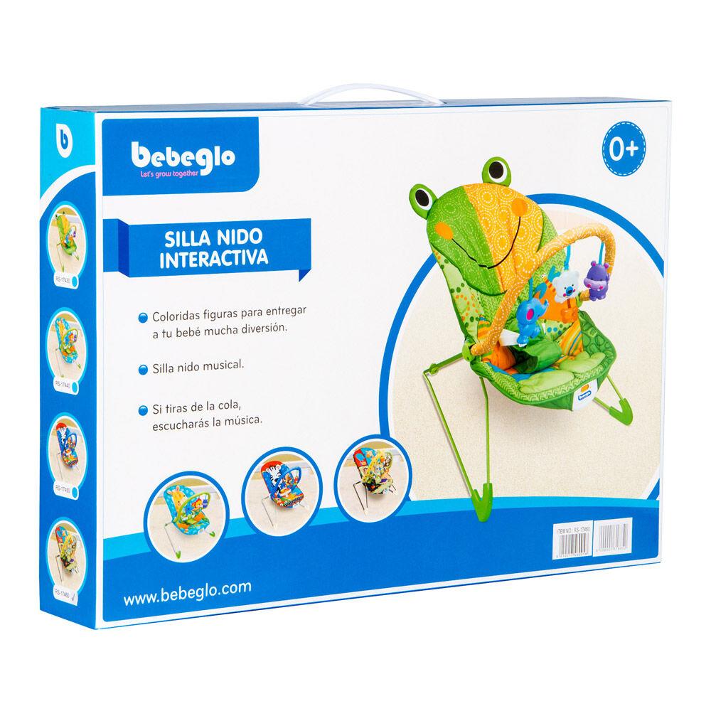 Silla Nido Vibradora Musical Animalitos Bebeglo Rs-17460 image number 3.0