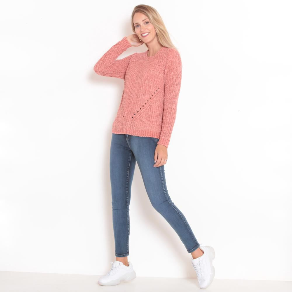 Sweater Tejido Cuello V Mujer Wados image number 2.0