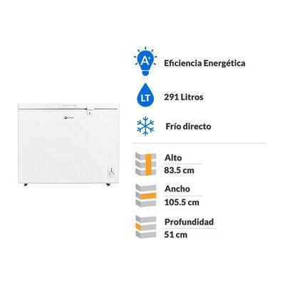 Freezer Mademsa M300 / Frío Directo / 291 Litros