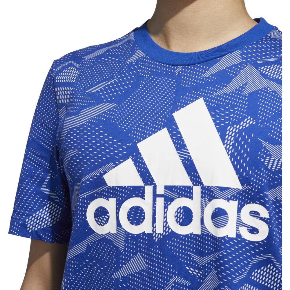 Polera Hombre Adidas Essentials Allover Print image number 4.0