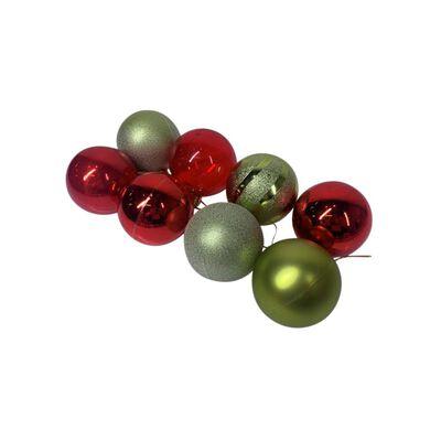 Esferas Casaideal Rojo/verde 8 Piezas