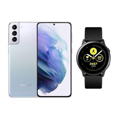 Smartphone Samsung S21+ Phantom Silver + Galaxy Active Black