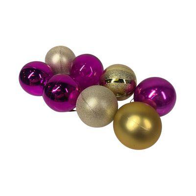 Esferas Casaideal Morado/dorado 8 Piezas