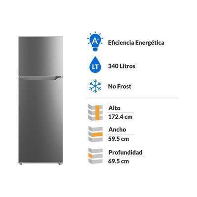 Refrigerador Top Freezer Midea MRFS-3560S463FW / No Frost / 340 Litros