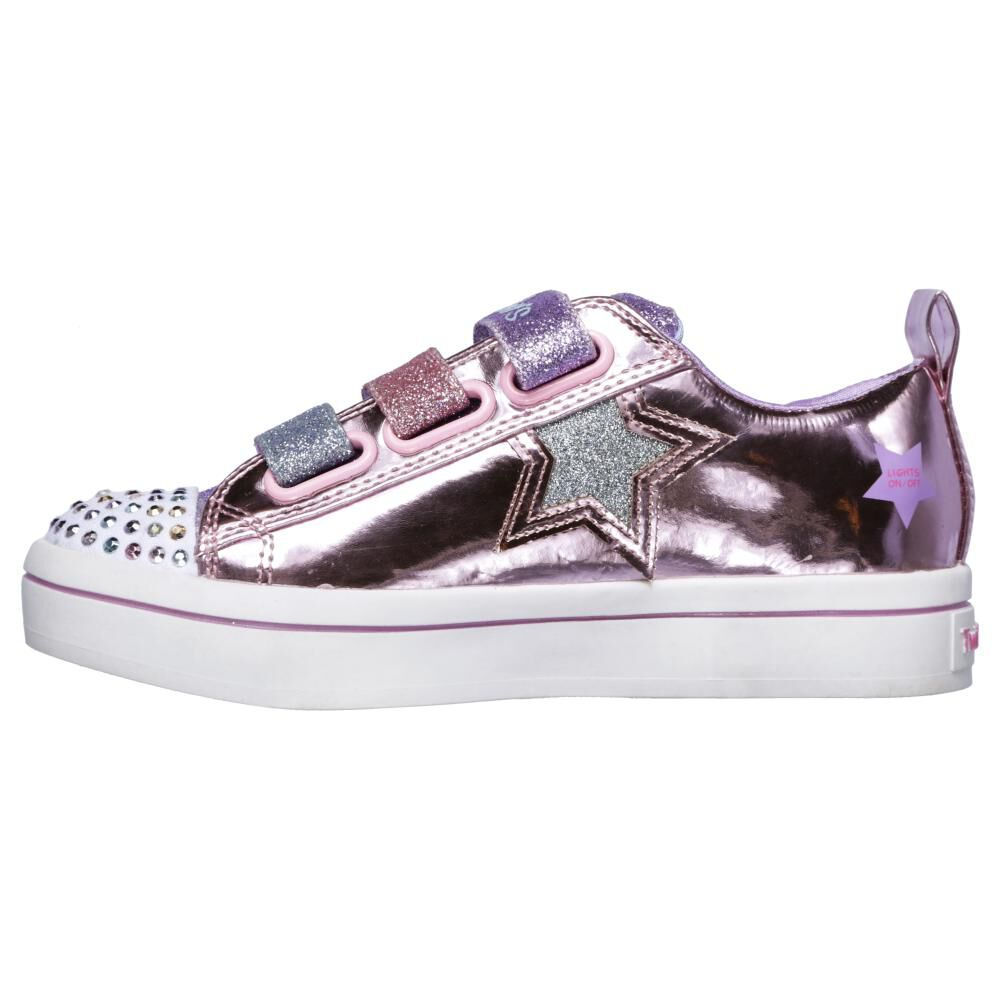Zapatilla Niña Skechers Twi-lites-twinkle Starz image number 4.0