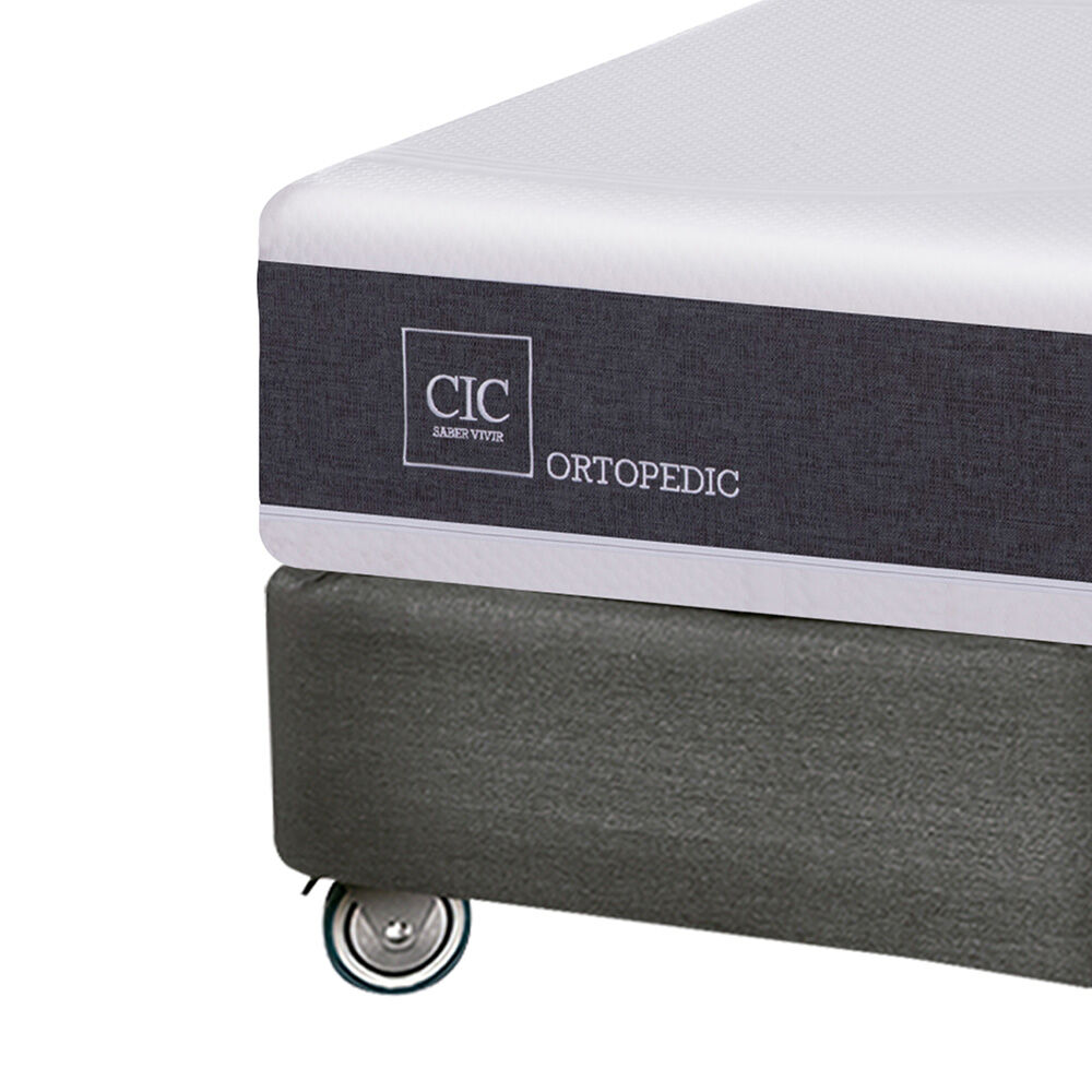 Box Spring Cic New Ortopedic / King / Base Dividida + Almohadas image number 2.0