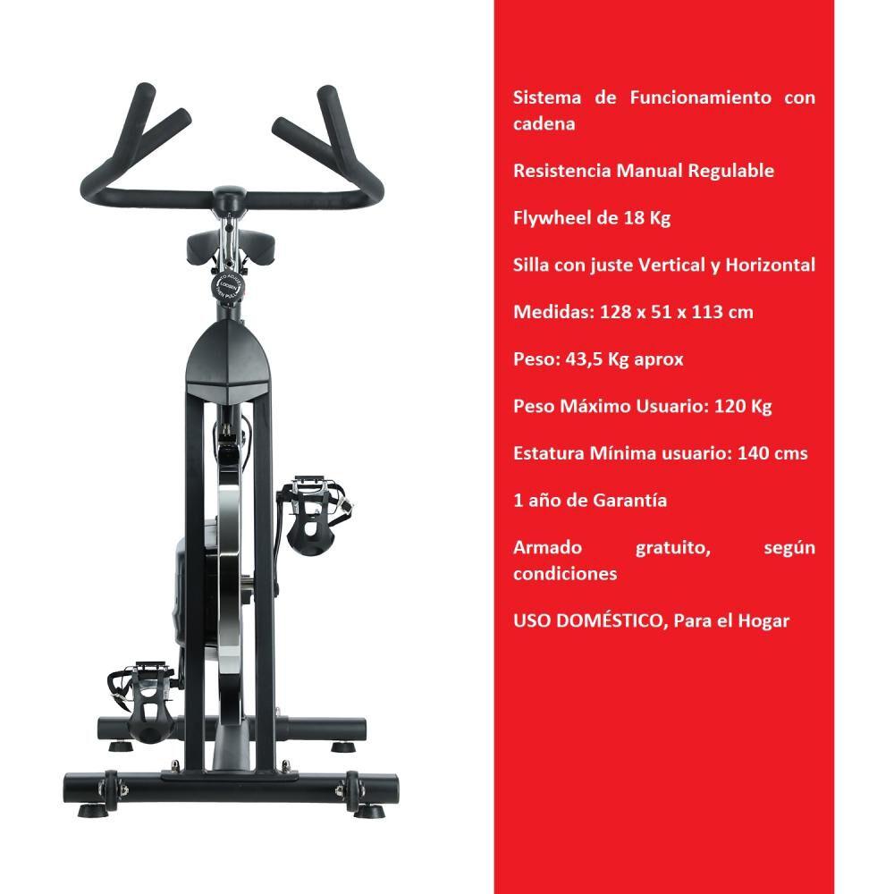 Bicicleta Spinning De Cadena Bodytrainer Spn-500c image number 1.0
