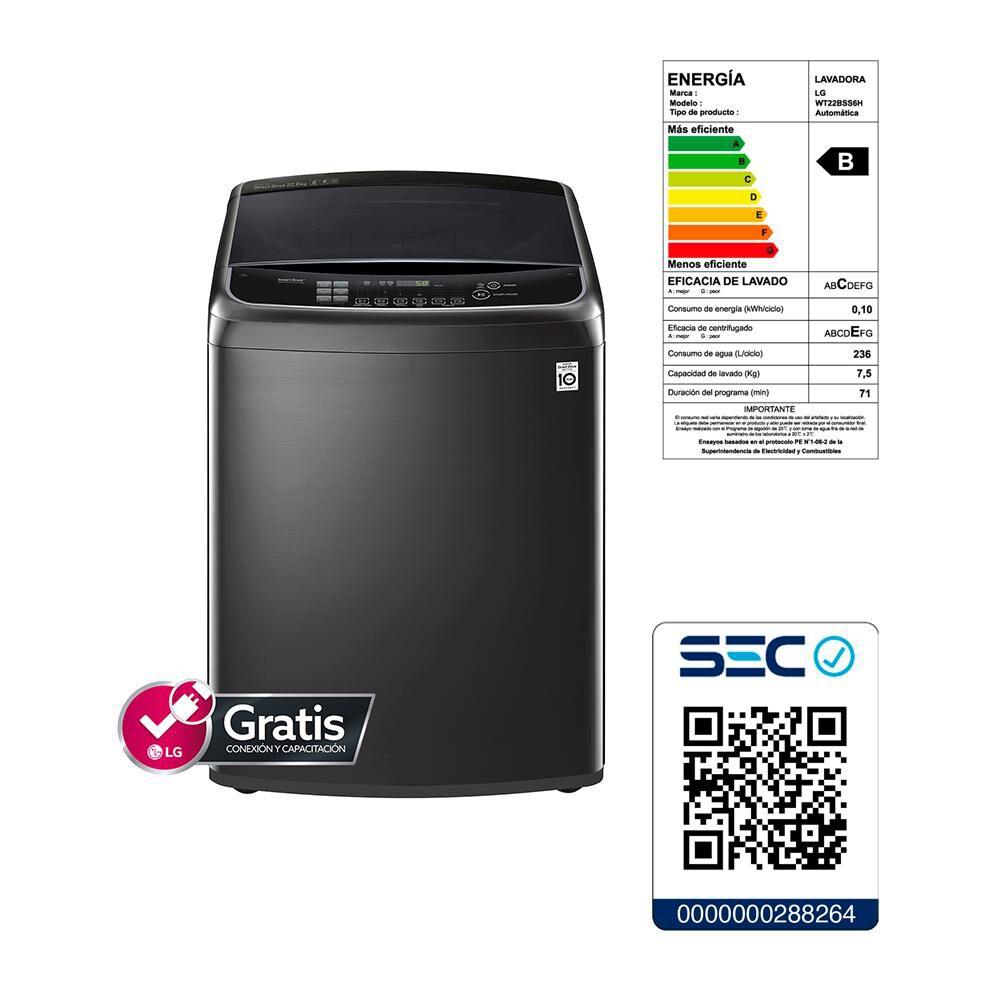 Lavadora LG Smart Inverter WT22BSS6H 22 Kg image number 5.0