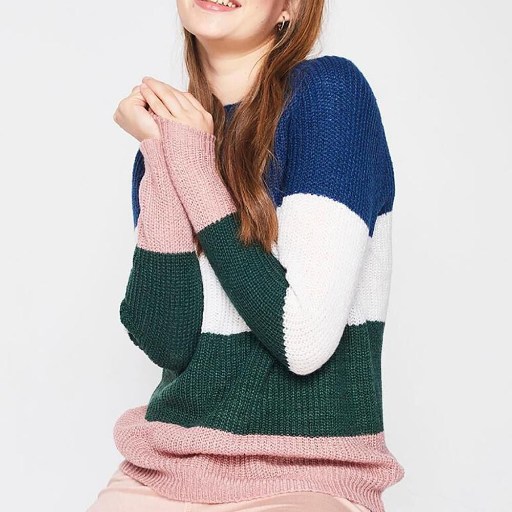 Sweater Bloque Color Mujer Freedom image number 0.0