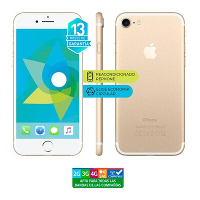 Smartphone Apple Iphone 7 Reacondicionado Dorado / 128 Gb / Liberado
