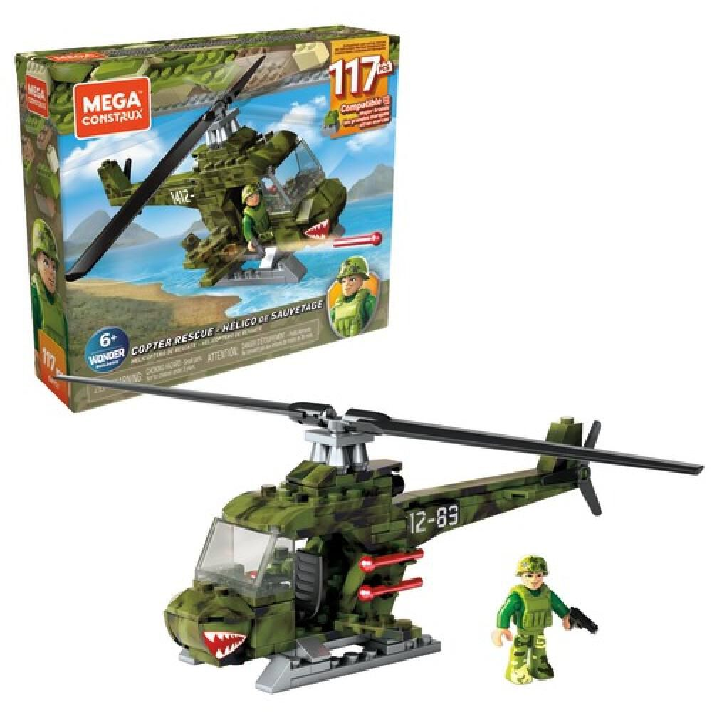 Helicoptero Megabloks Helicoptero Militar Armable image number 0.0