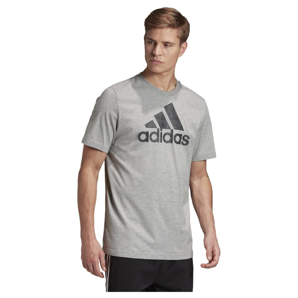 Camiseta Con Logo Texturizado Unisex Adidas image number 2.0