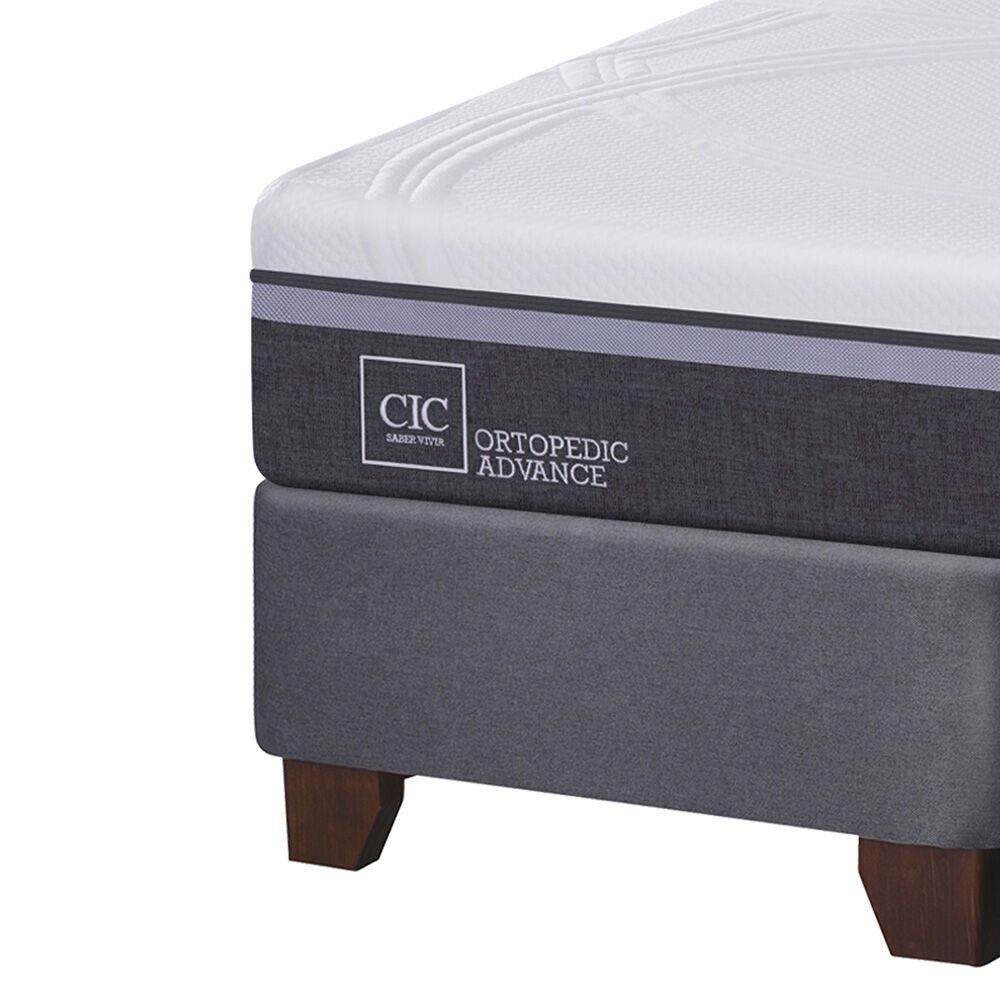 Box Spring Cic Ortopedic Advance / 2 Plazas / Base Dividida + Textil image number 2.0
