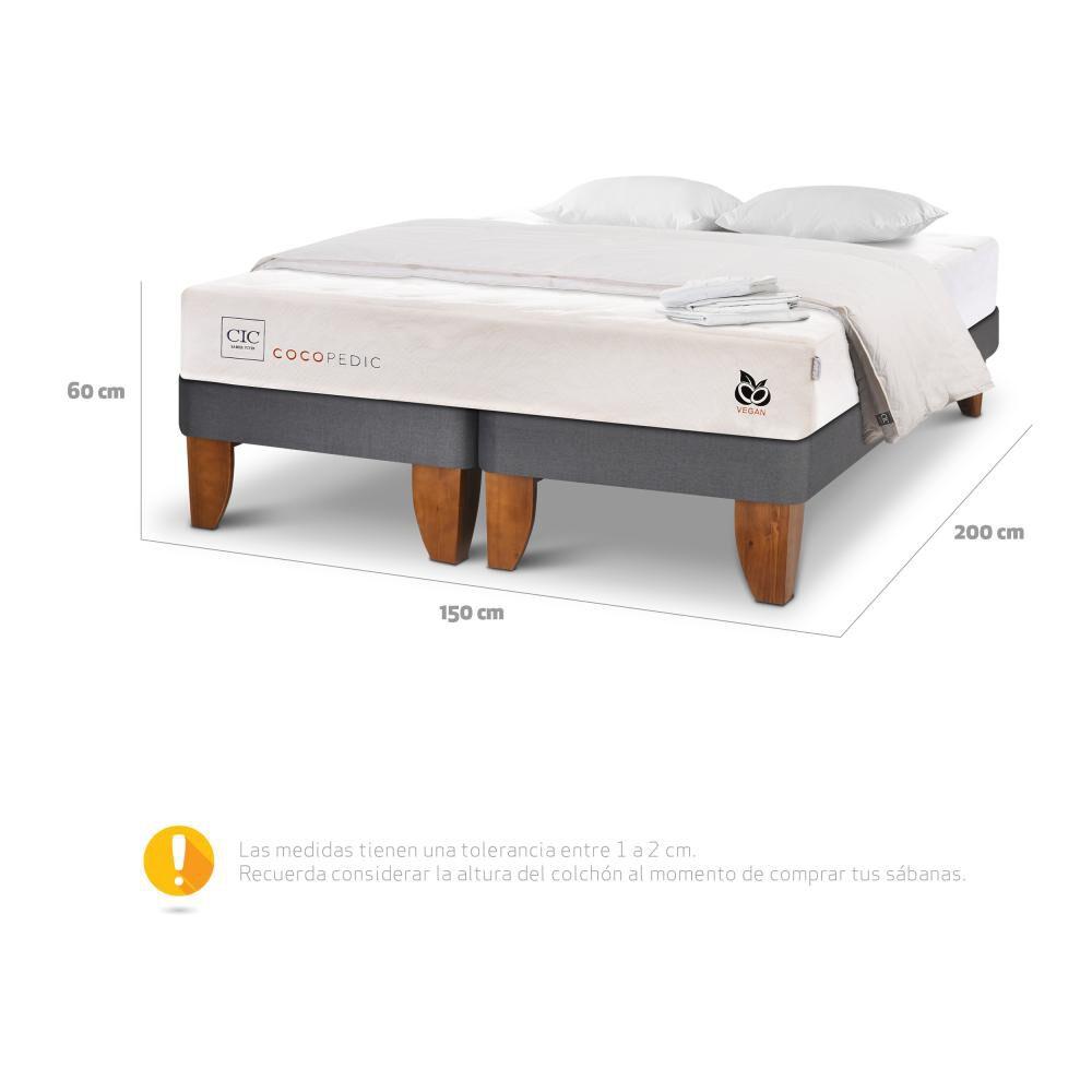 Cama Europea Cic Cocopedic / 2 Plazas / Base Dividida + Textil image number 4.0