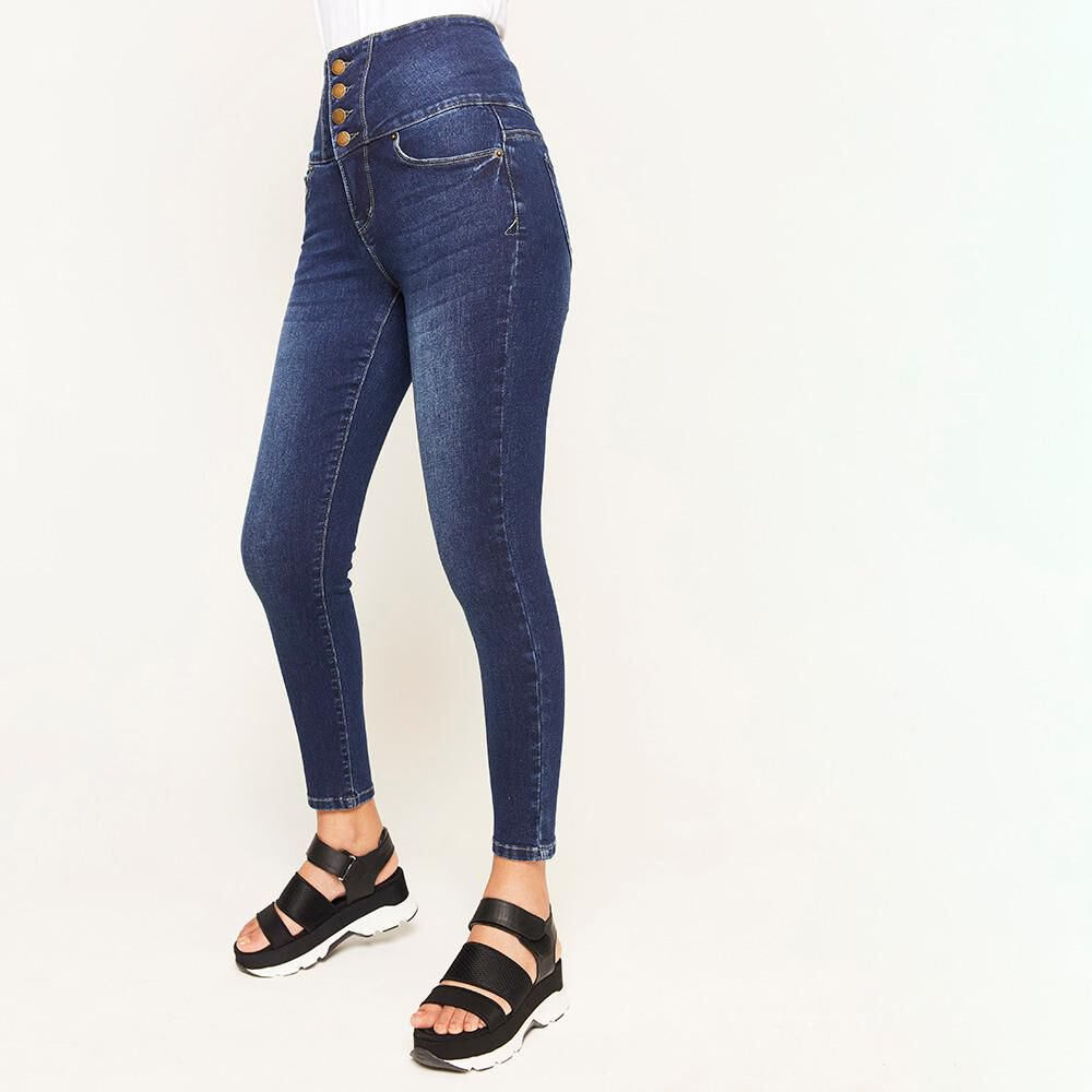 Jeans Pretina Alta Sculpture Mujer Rolly Go image number 0.0