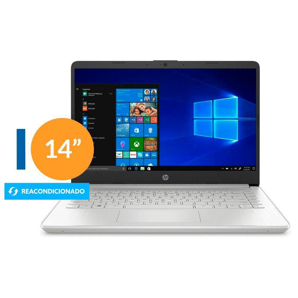 """Notebook Reacondicionado Hp 14-dq1043c I3 / Intel Core I3 / 8 Gb Ram / Uhd Graphics / 256 Gb Ssd / 14"""" / Teclado En Inglés image number 0.0"""