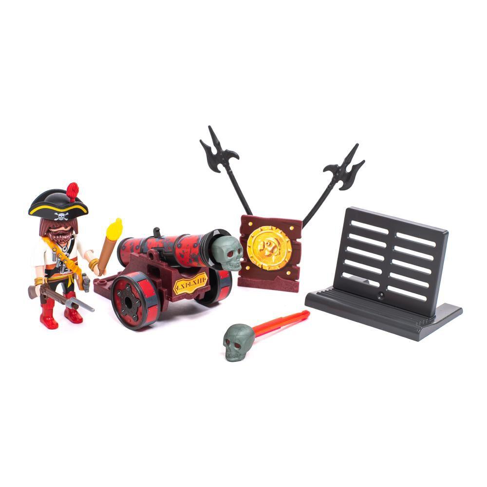Figura Coleccionable Playmobil Cañón Interactivo Rojo Con Bucanero image number 0.0