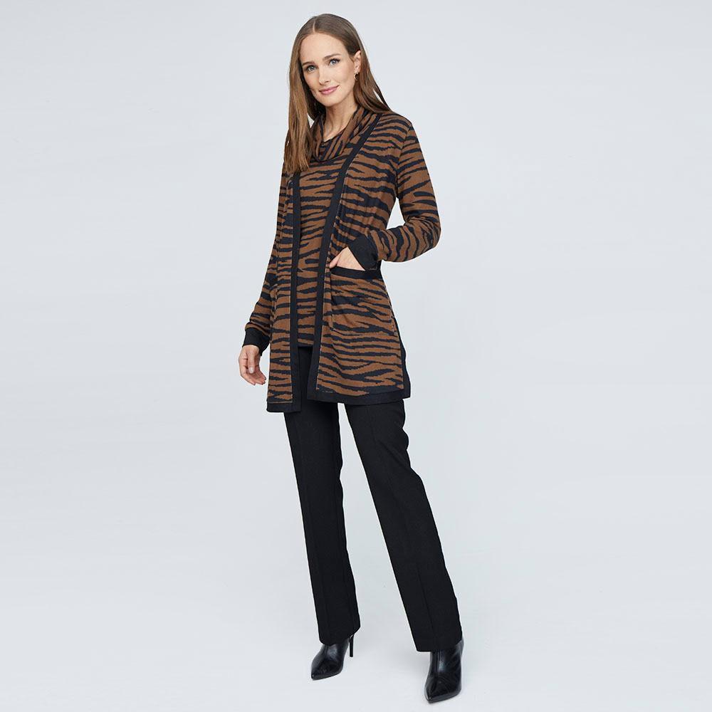 Sweater Estampado Cuello Alto Mujer Lesage image number 1.0