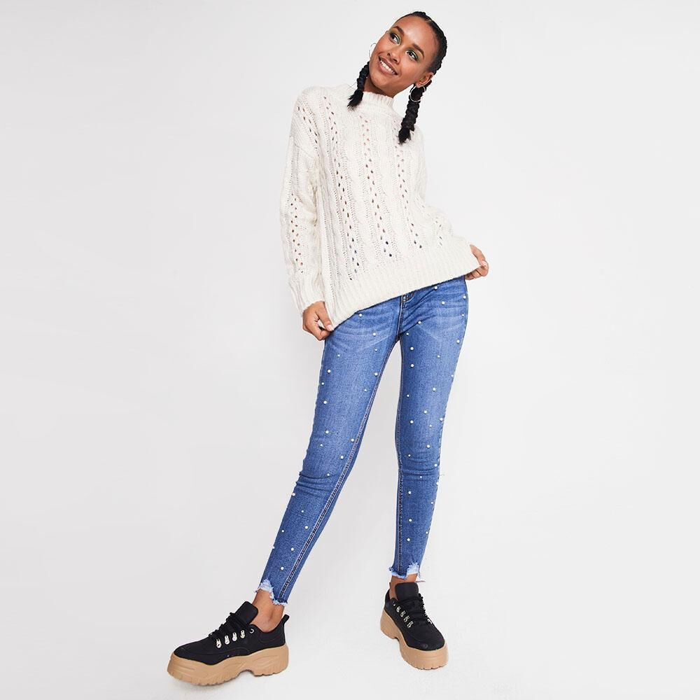 Sweater Trenzado Tejido Mujer Rolly Go image number 1.0