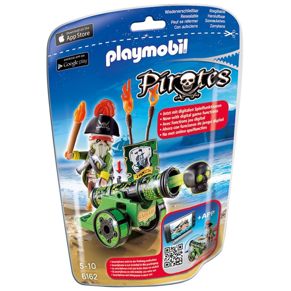 Figura Coleccionable Playmobil Cañón Interactivo Verde Con Capitán Pirata image number 1.0