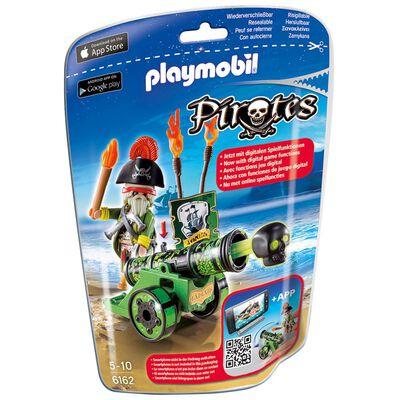 Figura Coleccionable Playmobil Cañón Interactivo Verde Con Capitán Pirata