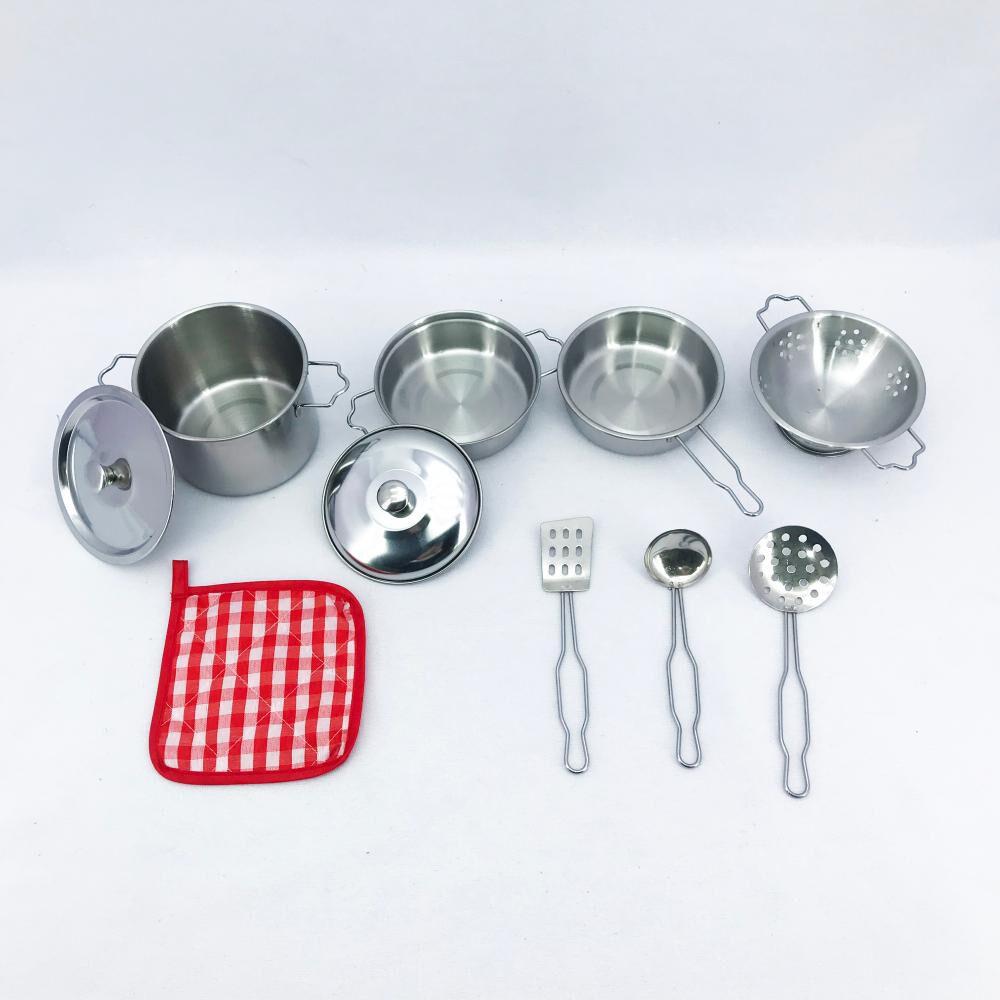 Juego De Rol De Cocina Stainless Steel Kitchenware Play Set image number 0.0