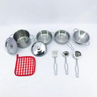Juego De Rol De Cocina Stainless Steel Kitchenware Play Set
