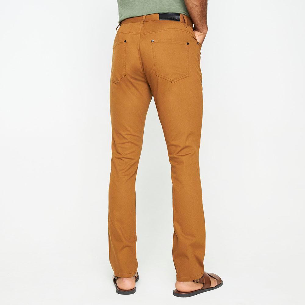 Pantalón Color Tiro Medio Regular Hombre Az Black image number 2.0
