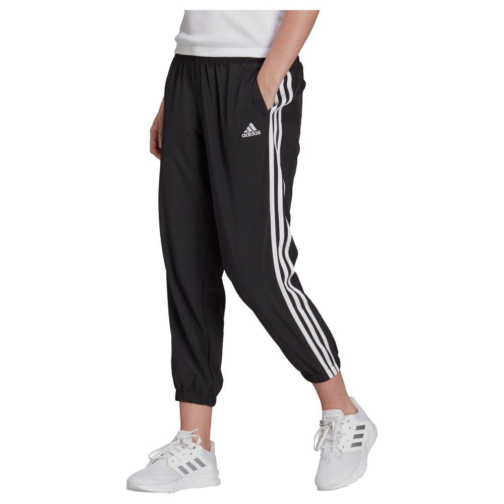Pantalón De Buzo Mujer Adidas Essentials Woven 3-stripes 7/8 image number 0.0