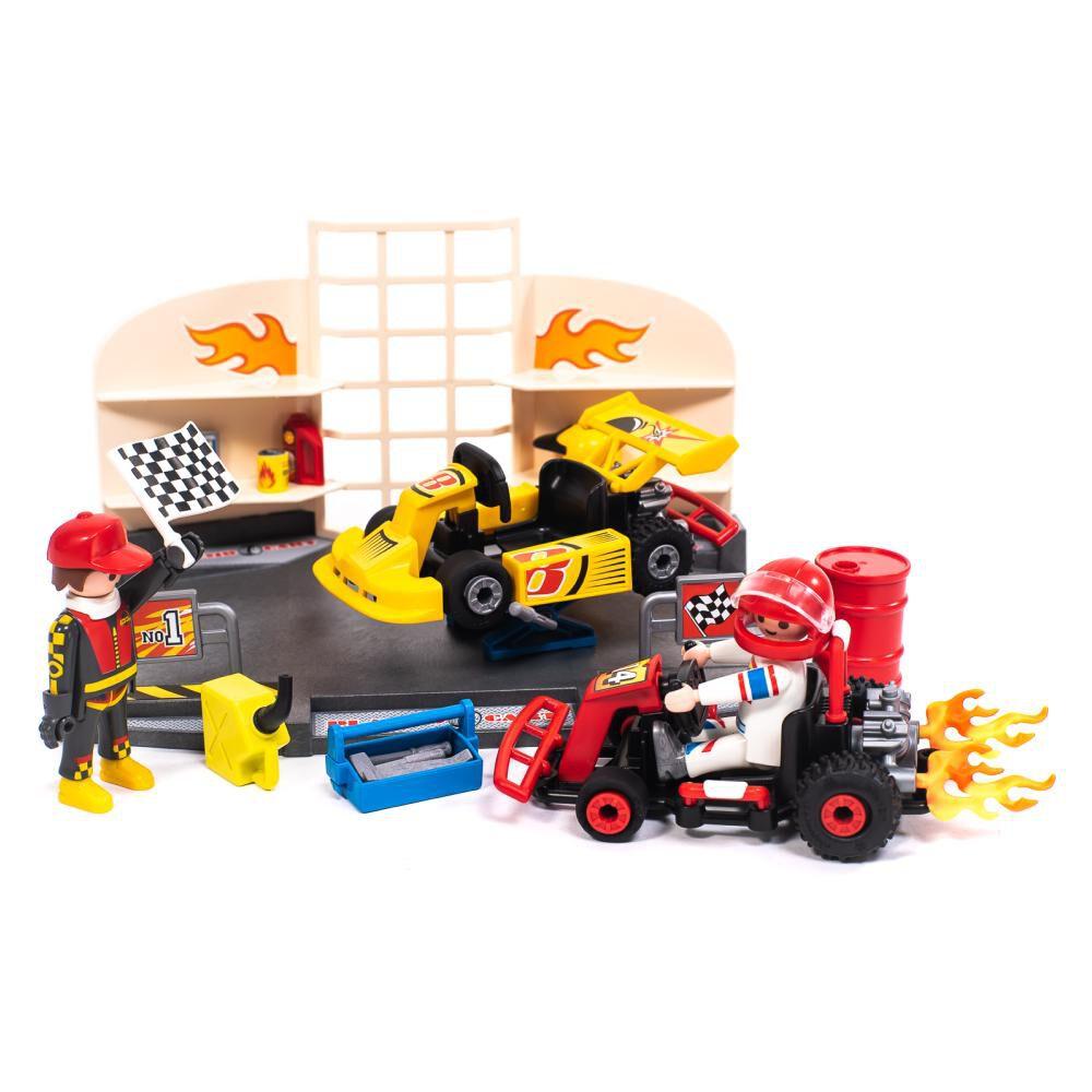 Figura De Acción Playmobil Taller De Carros De Carrera image number 0.0