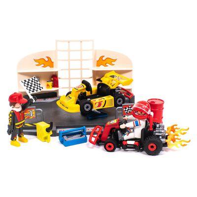 Figura De Acción Playmobil Taller De Carros De Carrera
