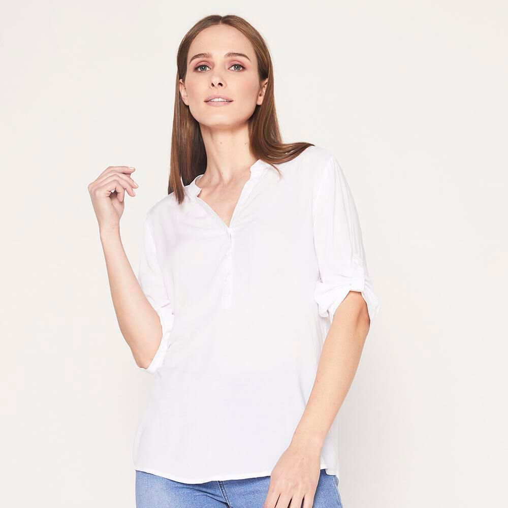 Blusa  Manga Roll up Mujer Geeps image number 0.0