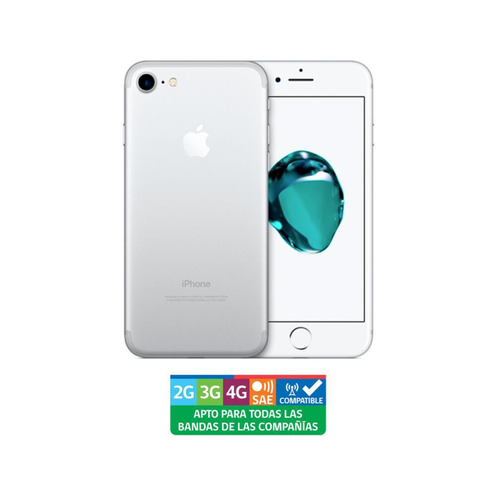 Iphone Apple 7 Plata Reacondicionado / 128 Gb / Liberado image number 0.0