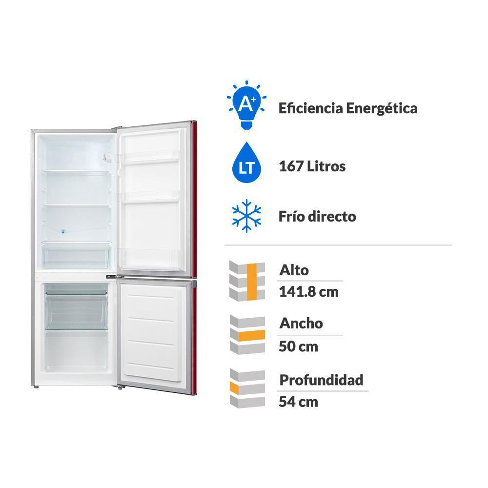 Refrigerador Bottom Freezer Midea Mrfi-1700r234rn / Frío Directo / 167 Litros image number 1.0