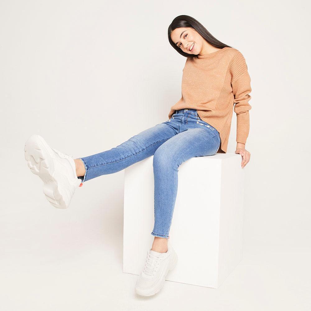 Sweater Lurex Regular Fit Cuello Redondo Mujer Freedom image number 1.0