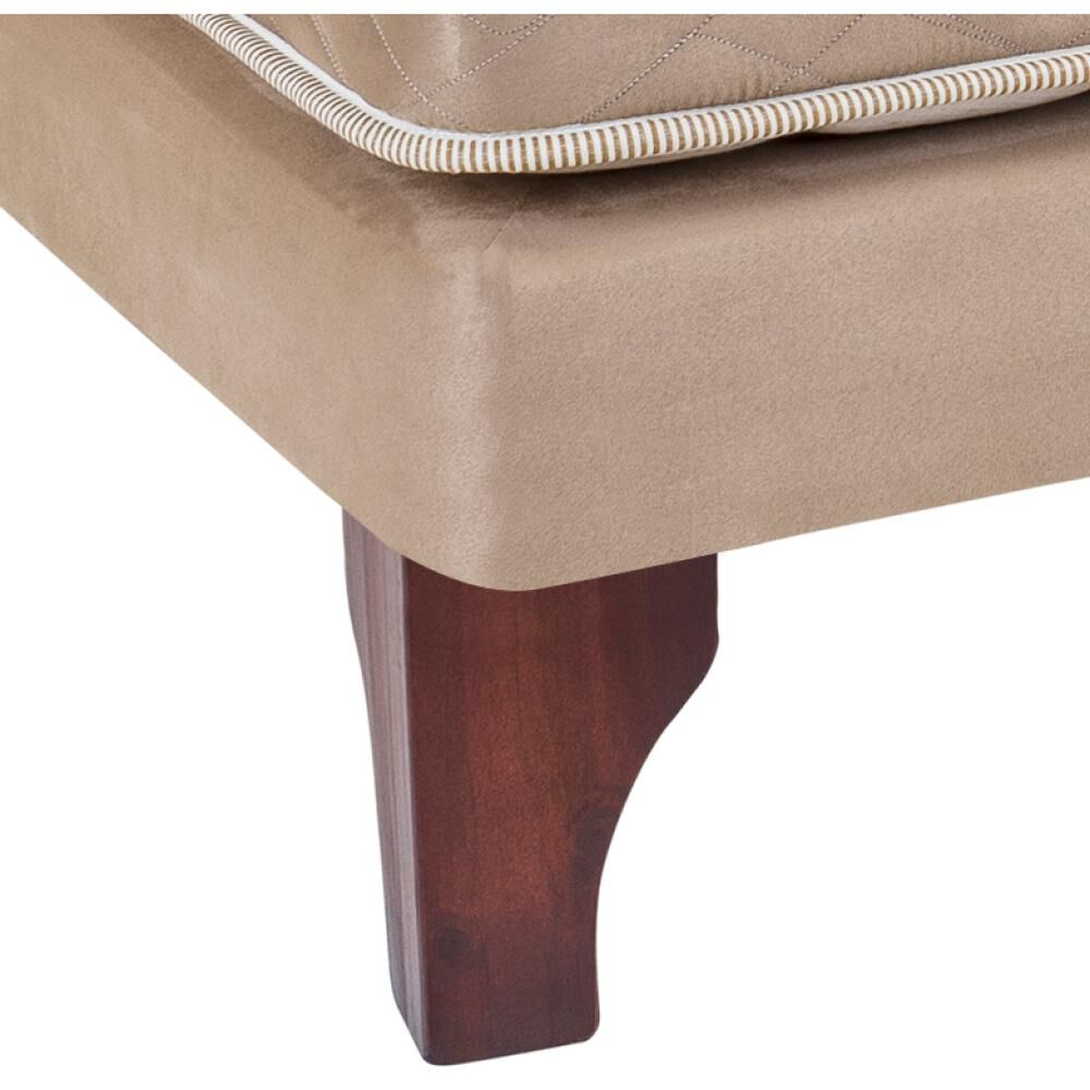 Cama Europea Celta Bamboo / 2 Plazas / Base Dividida  + Textil image number 2.0