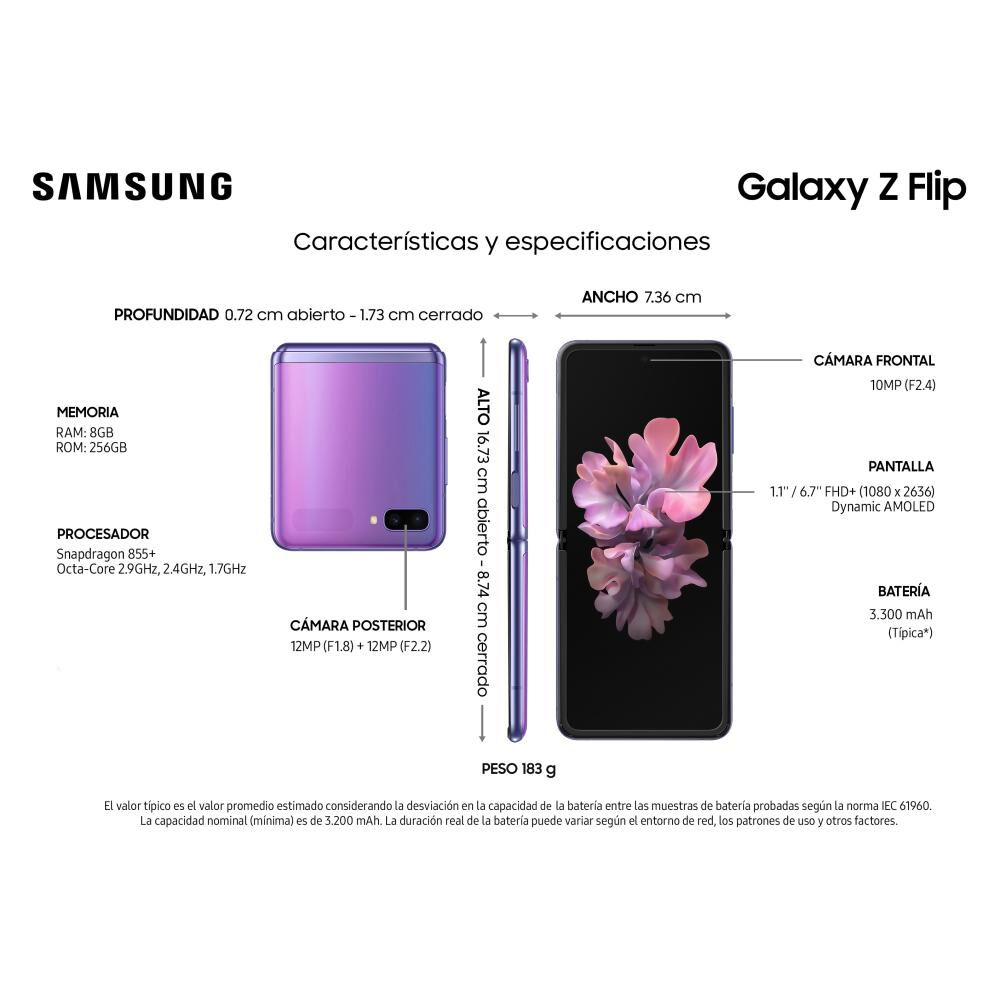 Smartphone Samsung Galaxy Z Flip 256 Gb - Liberado image number 5.0