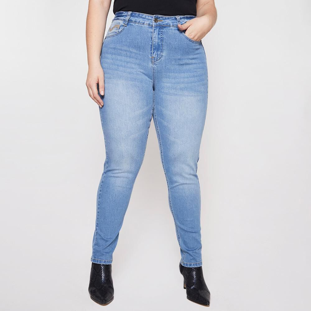 Jeans Mujer Tiro Alto Skinny Push Up Sexy Large image number 0.0