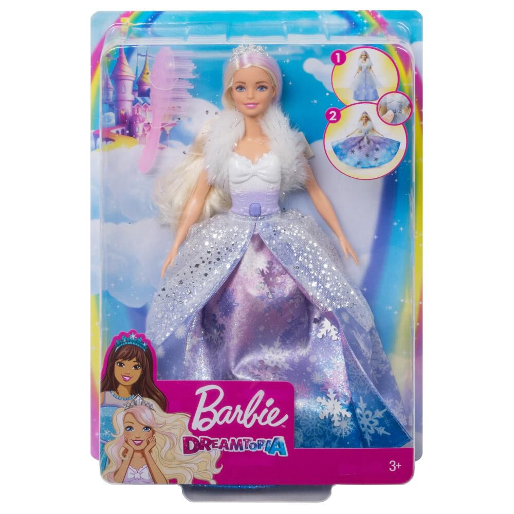 Muñeca Barbie Princesa Vestido Mágico image number 4.0