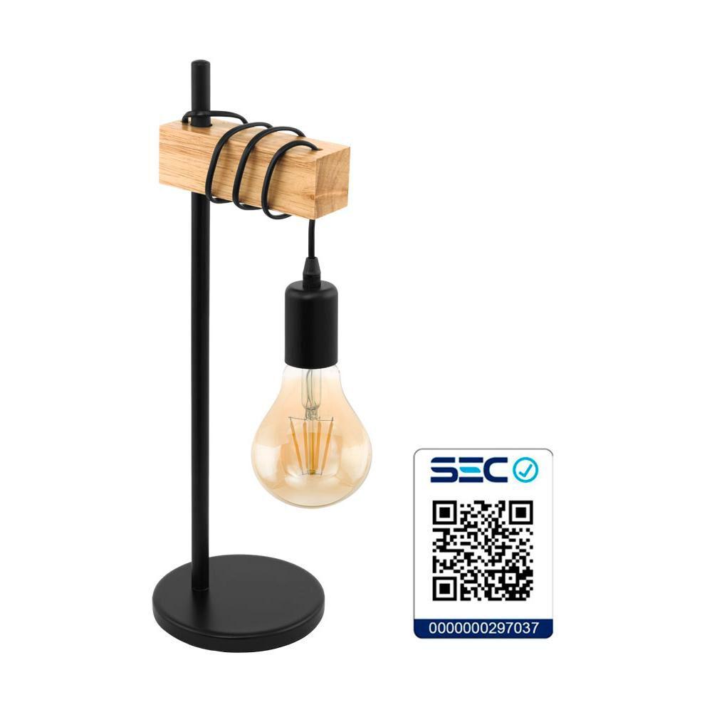 Lámpara De Mesa Eglo Townshend 32918 / 1x10w image number 1.0