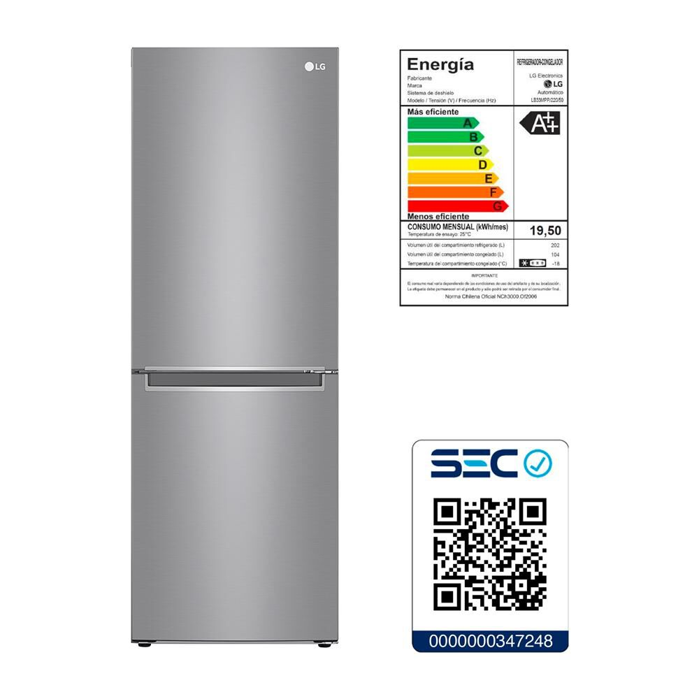 Refrigerador LG Bottom Freezer LB33MPP 306 Litros image number 5.0