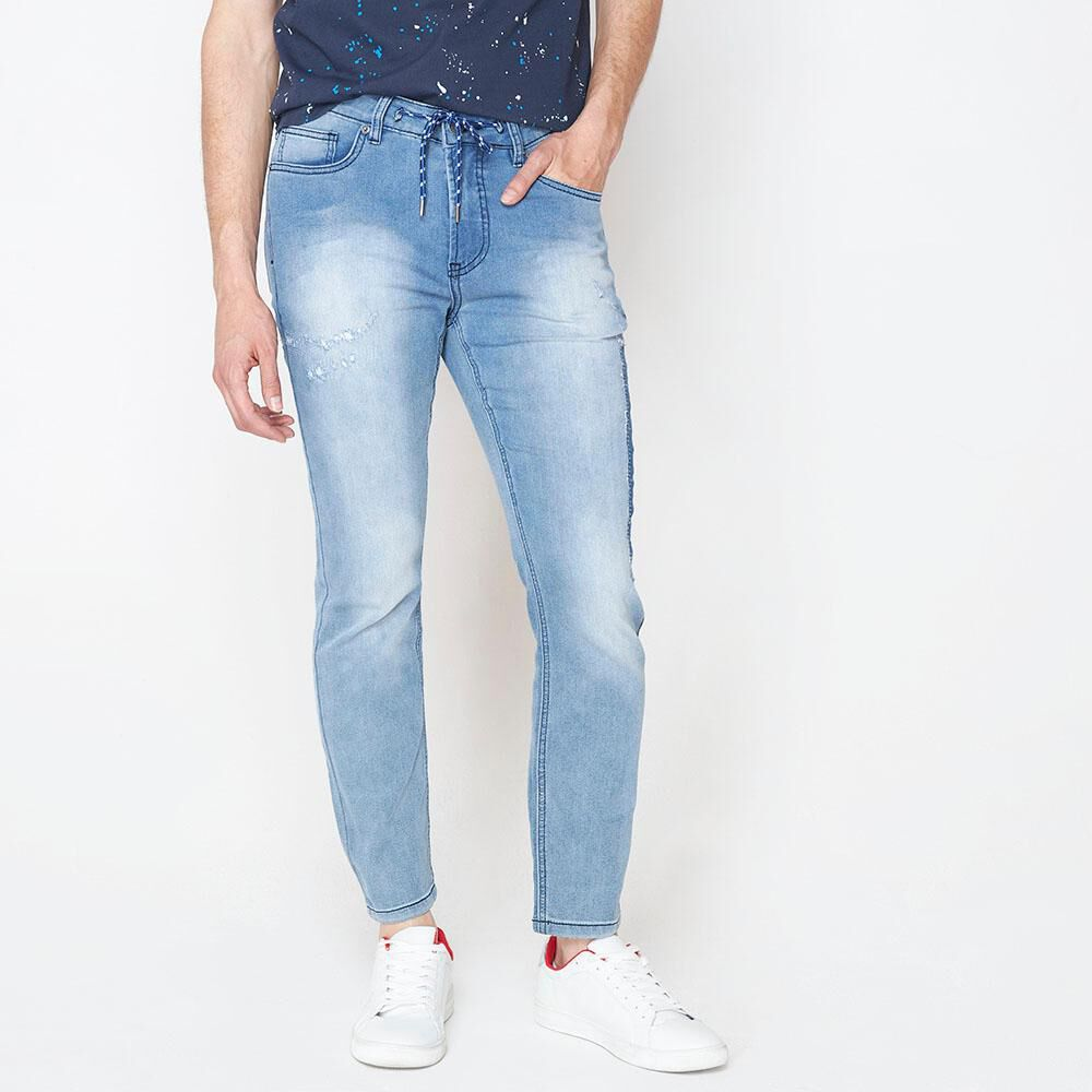 Jeans Jogger Hombre Rolly Go image number 4.0