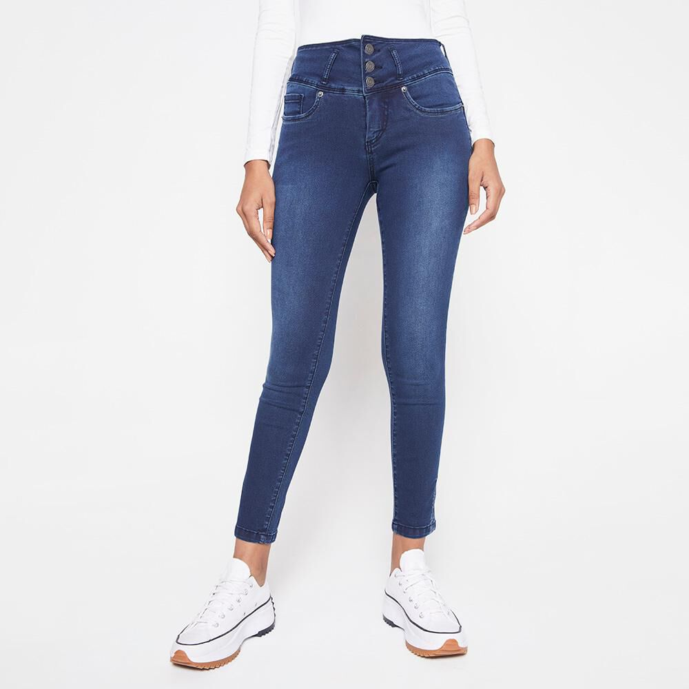 Jeans Mujer Tiro Alto Almohadilla Rolly Go image number 0.0