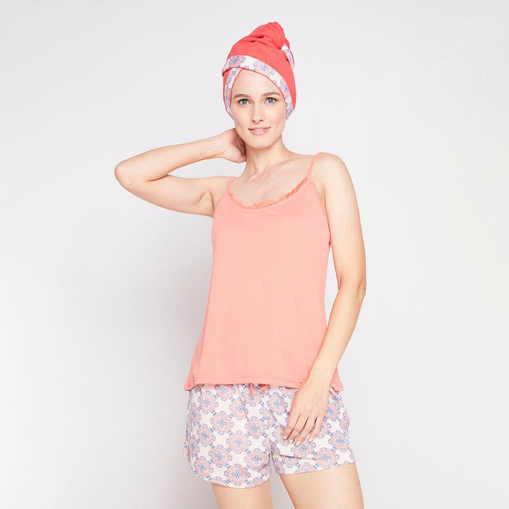 Pack Pijama + Toalla Pelo Mujer Geeps image number 0.0