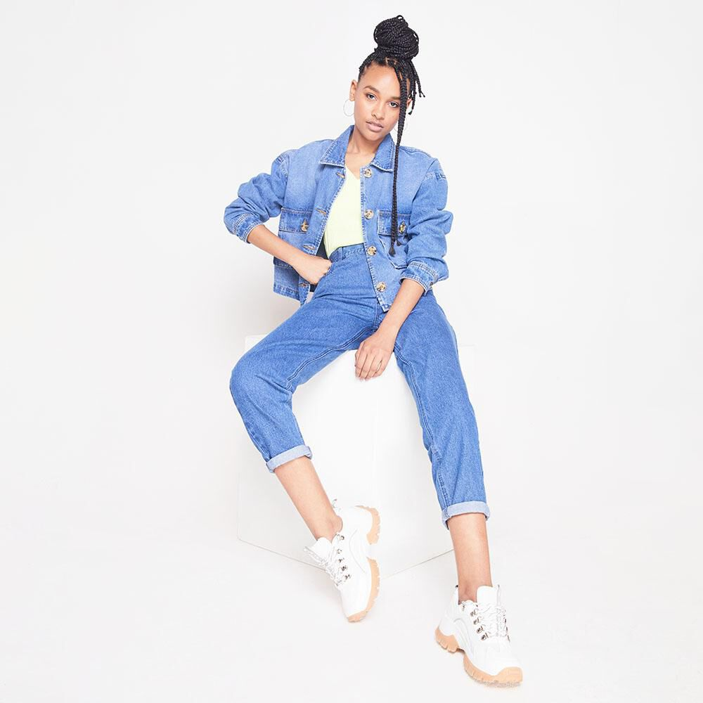 Chaqueta Denim Oversize Mujer Rolly Go image number 1.0