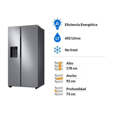 Refrigerador Side By Side Samsung RS60T5200S9/ZS / No Frost / 602 Litros