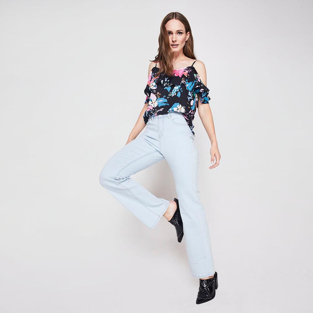 Jeans Flare Mujer Kimera image number 1.0