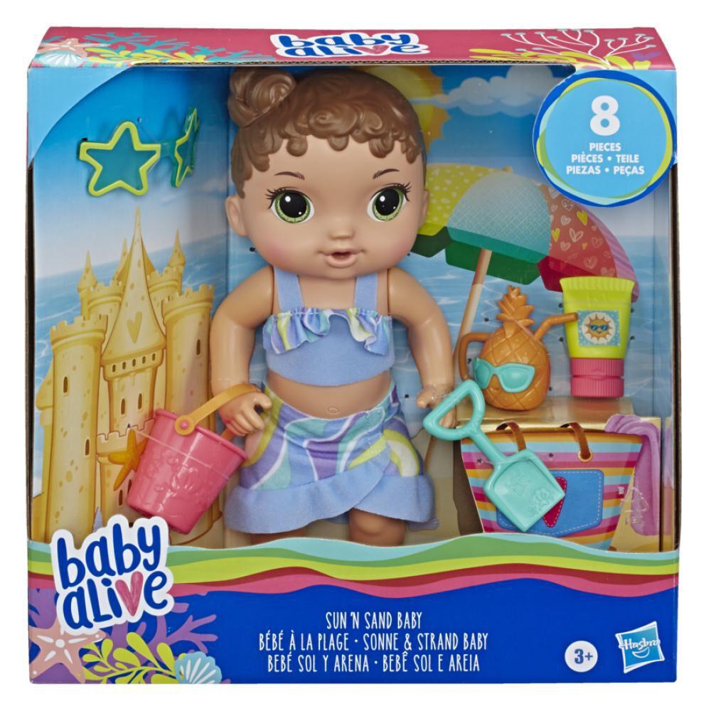 Muñeca Baby Alive Bebé Sol Y Arena image number 0.0