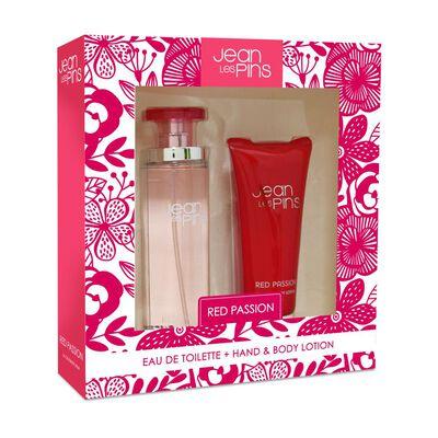 Perfume Mujer Red Passion Jean Les Pins / 100 Ml / Eau De Toilette + Body Lotion